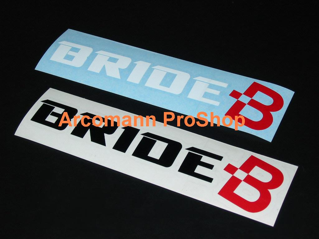 BRIDE 6inch Decal (Style#2) x 2 pcs